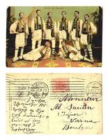 1907 Romania ethnic folk costumes postcard RR