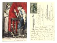1912 Serbia Bosnia ethnic couple postcard !