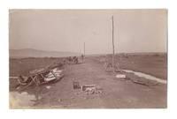 WWI Bulgaria Serbia war field ruins postcard