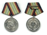 1980 DDR Germany Military merit silver medal