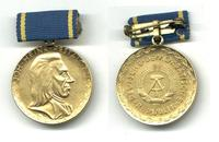 Germany DDR Pestalozzi Science medal Gold RR