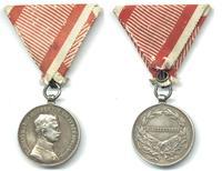 WWI Austria Carol BRAVERY medal silver 1