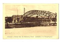 WWI Serbia Nish river bridge German postcard