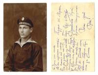 WWI Bulgaria Royal NAVY diver photo postcard