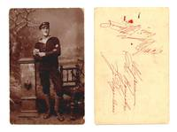 WWI Bulgaria NAVY torpedo uniform postcard RR