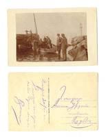 WWI Bulgaria NAVY diver suit photo postcard R