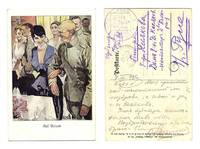 WWI Germany artist Army banquet postcard RARE