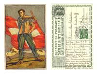 1912 SWISS artist Wieland patriotic postcard