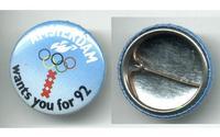 1992 Amsterdam Dutch Olympic NOC BID pin NICE