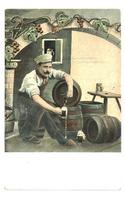 1910 Color BEER Brewery advertising postcard