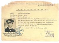 WWII NAZI German Pilot ACE AUSWEIS 18 Kills R
