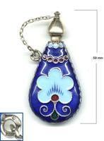 1920 Russia Silver Enamel perfume bottle NICE