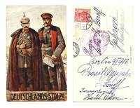 WWI Germany Austria Kings patriotic postcard