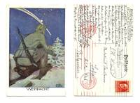 WWI Germany Artist signed patriotic postcard