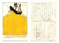 WWI Bulgaria v. Romania propaganda postcard !
