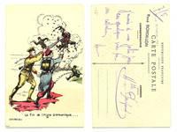 WWI France v. Germany propaganda postcard RR
