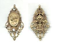 Victorian / Art Nouveau lady gold pendant !