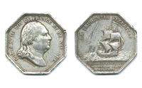 1816 Luis XVIII Naval silver medal jeton RARE