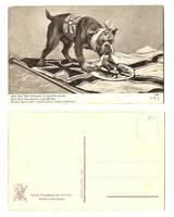 WWI Britain vs. Germany propaganda postcard 2