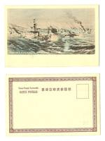 Japan v Russia war NAVY propaganda postcard 1