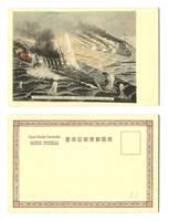 Japan v Russia war NAVY propaganda postcard 2