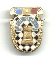 1950 Romania CHESS Federation pin / badge RRR