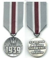1950 WWII Poland Army defence merit medal