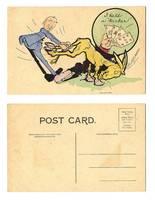 1905 US Poker game comic cartoon postcard !