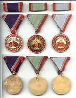 1980 Hungary Mil. Merit Service 3x medal set