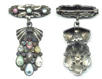 c1920 Antique Arts & Crafts jewelry broche !