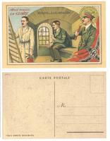 WWII French Hitler satire propaganda postcard