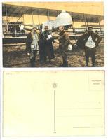 WWI Greek & French pilot & airplane postcard