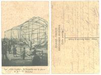WWI Greek captured German ZEPPELIN postcard 1