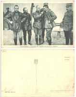 WWI Captured German Zeppelin pilots postcard