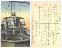 WWI Greece NAVY torpedo boat postcard RARE