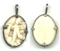 c1910 China Silver & Ivory Guanin pendant !