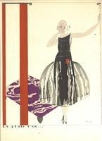 1920 Art Deco Mario Simon pochoir print RARE