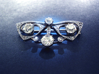 French Art Nouveau DIAMOND butterfly brooch !