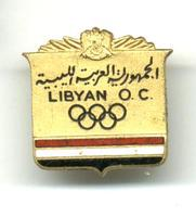 1972 LIBYA NOC Olympic pin badge Munich RARE