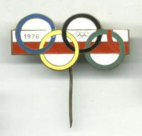 1976 Poland NOC Olympic Pin / Badge NICE