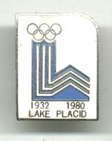 1980 US USA Lake Placid Olympic pin 2 dates