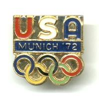 1972 US USA NOC Olympic pin badge NICE
