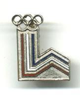 1980 USA NOC Winter Olympic pin LAKE PLACID !