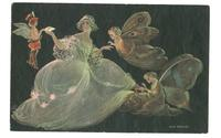 Art Deco Anichini Fairy & Butterfly postcard