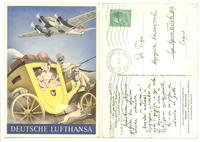 1937 NAZI Germany Aviation LUFTHANSA postcard