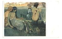1910 FROG KING & MERMAIDS artist postcard RRR