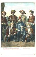 1900 Ottoman Turkish MERCENARIES postcard RR