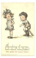 c1920 US USA Kid Bowling cartoon postcard RR