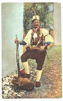 1920 Albania Royal CAVAS soldier postcard RR