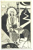Art Nouveau artist FREE MACEDONIA postcard RR